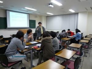 英語による授業風景